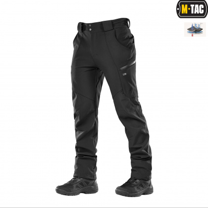 M-Tac брюки Soft Shell Winter Black