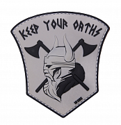 101 INC Keep your Oaths 3D Patch Grey