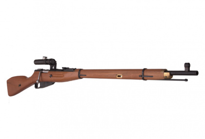 China made Mosin–Nagant Spring Rifle with Scope (real wood)
