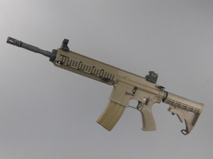WE HK416 Open Bolt TAN