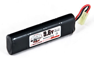 G&P 9.6V 600mAh Battery Mini Type